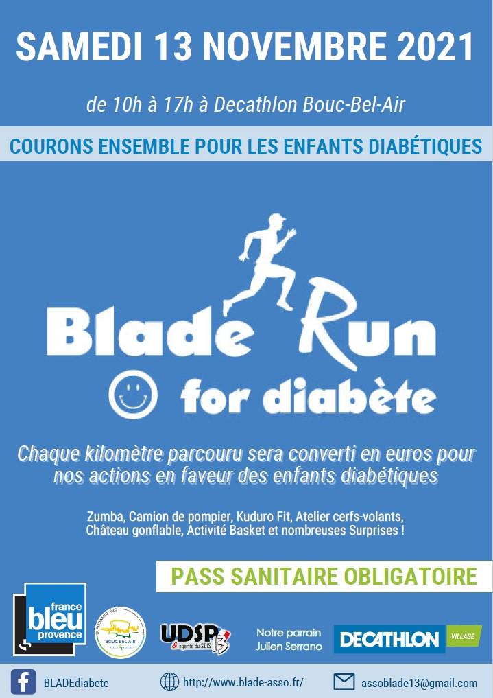 Blade Run for Diabetes – 13/11/2021 – Courons ensemble pour les enfants diabétiques